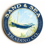 0003-0367-Sand & Sea Wood Sign 12x12 (31cm x31cm) Round