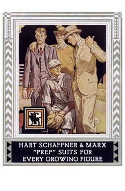 Hart Schaffner and Marx Poster Wood Sign 18x24 (46cm x 61cm) Planked