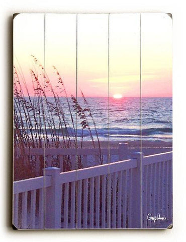 Florida Sunset Wood Sign 14x20 (36cm x 51cm) Planked