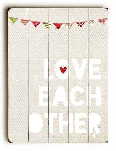 Love Each Other Wood Sign 14x20 (36cm x 51cm) Planked