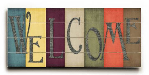Welcome Wood Sign 10x24 (26cm x61cm) Planked
