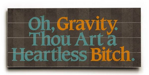 Oh gravity Wood Sign 10x24 (26cm x61cm) Planked