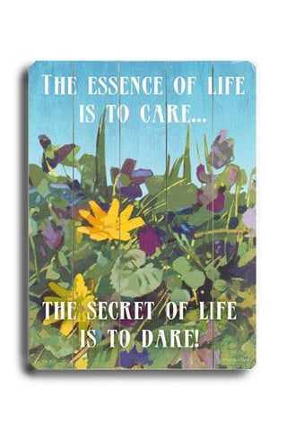 The Essence of Life Wood Sign 18x24 (46cm x 61cm) Planked