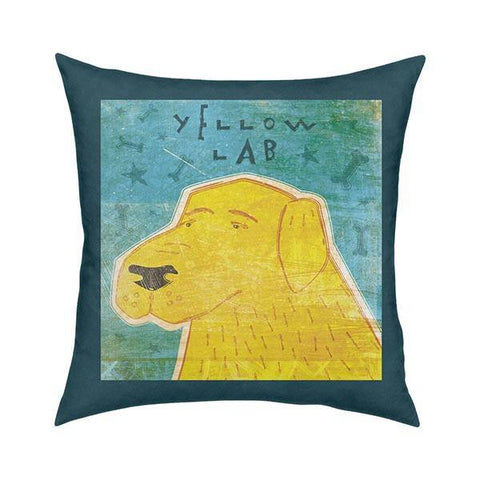 Yellow Lab Pillow Pillow 18x18