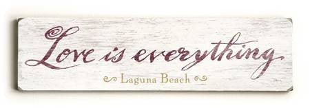 0002-8211-Love is Everything Wood Sign 6x22 (16cm x56cm) Solid