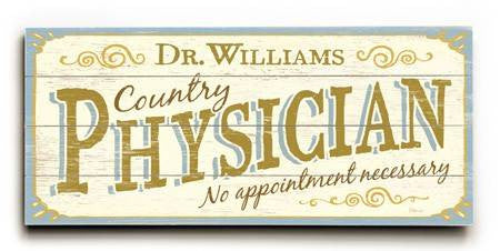 0003-2621-Physician Wood Sign 10x24 (26cm x61cm) Planked