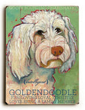 Goldendoodle Wood Sign 14x20 (36cm x 51cm) Planked