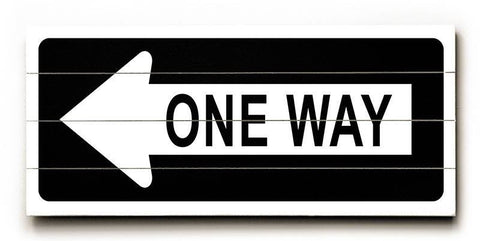 One Way Left Wood Sign 10x24 (26cm x61cm) Planked