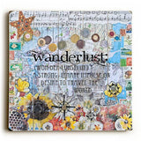 Wanderlust Wood Sign 13x13 Planked