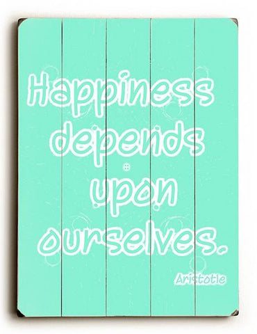 Happiness Wood Sign 30x40 (77cm x102cm) Planked