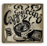 Cappuccino Wood Sign 30x30 (77cm x 77cm) Planked