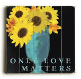 0003-2582-Only Love Wood Sign 13x13 Planked