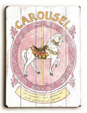 0003-0137-Carousel Wood Sign 18x24 (46cm x 61cm) Planked