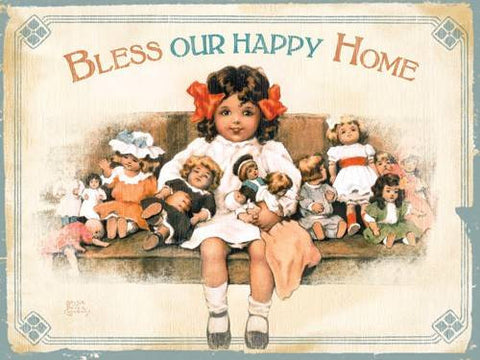Bless our Happy Home Wood Sign 14x20 (36cm x 51cm) Planked