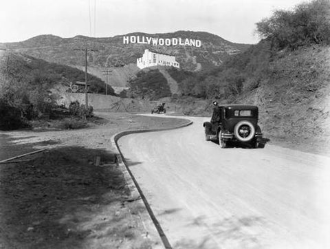 Hollywood, Los Angeles c.1924 Wood Sign 14x20 (36cm x 51cm) Planked