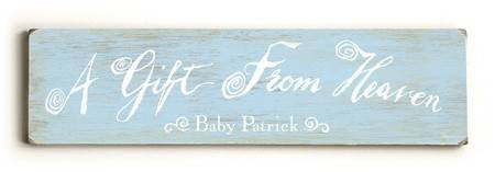 0002-9025-A gift from Heaven Wood Sign 6x22 (16cm x56cm) Solid