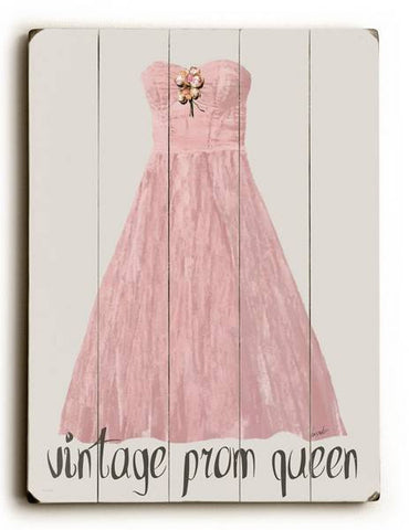 Vintage Prom Queen Wood Sign 12x16 Planked