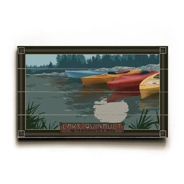 Kayaks Wood Sign 7.5x12 (20cm x31cm) Solid