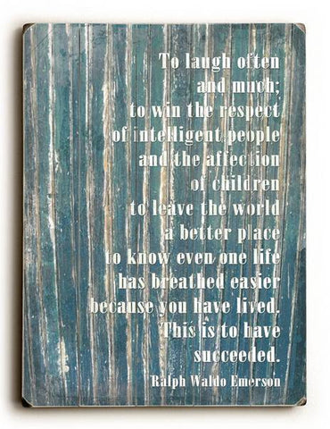 To laugh often Wood Sign 12x16 Planked