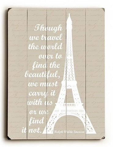 Travel the World Wood Sign 30x40 (77cm x102cm) Planked