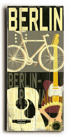 Berlin-MusCycle II Wood Sign 14x23 (36cm x59cm) Planked