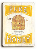0002-8219-Pure Honey Wood Sign 9x12 (23cm x 31cm) Solid