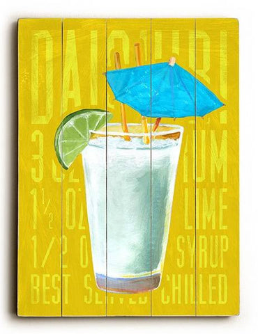 Daiquiri Wood Sign 9x12 (23cm x 31cm) Solid
