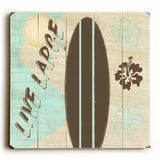 Live Large Wood Sign 13x13 Planked