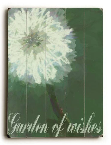 0003-2587-Wishes Wood Sign 14x20 (36cm x 51cm) Planked