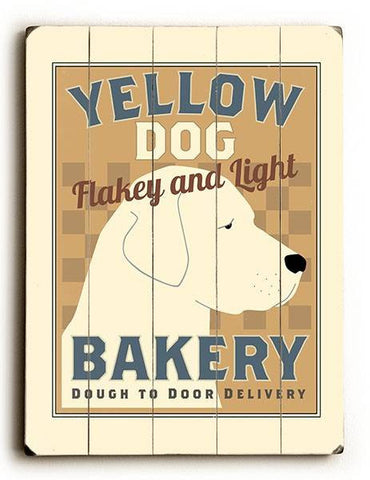 Yellow Dog Bakery Wood Sign 12x16 Planked