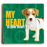 My Heart Wood Sign 13x13 Planked