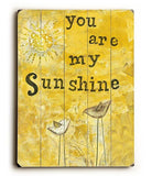 You Are My Sunshine Wood Sign 14x20 (36cm x 51cm) Planked