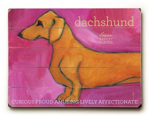 Dachshund Wood Sign 14x20 (36cm x 51cm) Planked