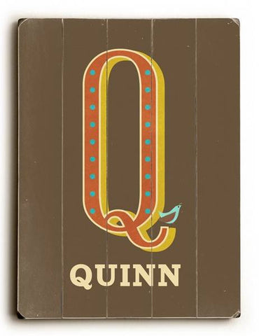 Alphabet - Q Wood Sign 9x12 (23cm x 31cm) Solid