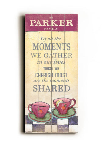 Moments we gather Wood Sign 10x24 (26cm x61cm) Planked