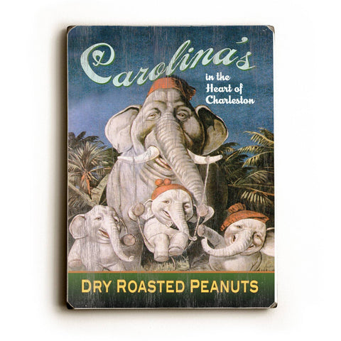 Carolina's Dry Roasted Peanuts Wood Sign 14x20 (36cm x 51cm) Planked