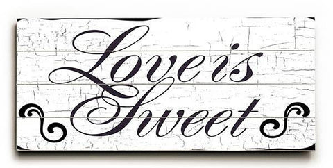 Love is Sweet Wood Sign 10x24 (26cm x61cm) Planked