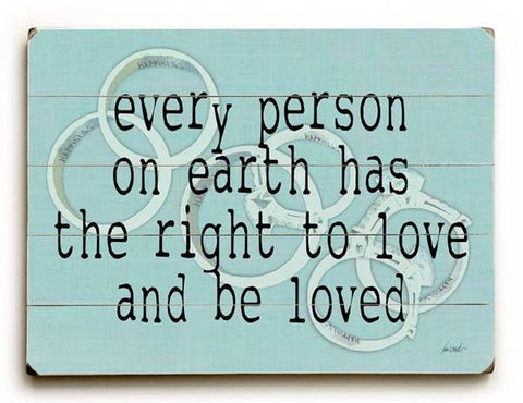 Right to Love Wood Sign 9x12 (23cm x 31cm) Solid