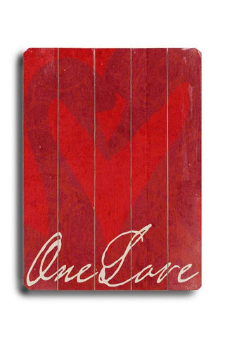 One Love Wood Sign 12x16 Planked