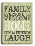 Family everyone is welcome Wood Sign 30x40 (77cm x102cm) Planked