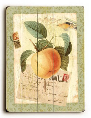 Peach Wood Sign 14x20 (36cm x 51cm) Planked