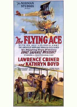 The Flying Ace Movie Poster Wood Sign 14x32 (36cm x82cm) Planked