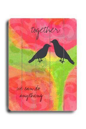 Together Wood Sign 18x24 (46cm x 61cm) Planked