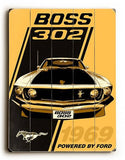 1969 Boss 302 Sign Wood Sign 18x24 (46cm x 61cm) Planked