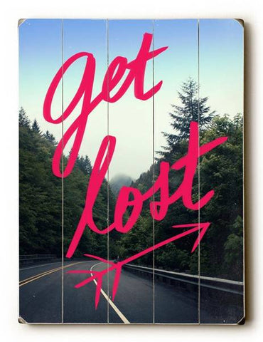 Get Lost Wood Sign 25x34 (64cm x 87cm) Planked