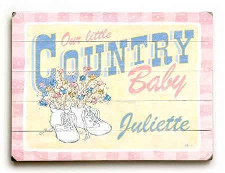 0003-1501-Country Baby Wood Sign 9x12 (23cm x 31cm) Solid