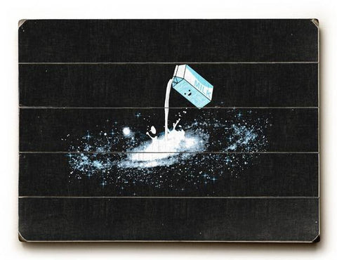 Milky Way Wood Sign 9x12 (23cm x 31cm) Solid