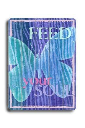 Feed your soul Wood Sign 14x20 (36cm x 51cm) Planked