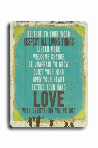 Love is Everything You've Got Wood Sign 14x20 (36cm x 51cm) Planked
