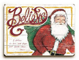 0003-0946-Believe Santa Wood Sign 12x16 Planked